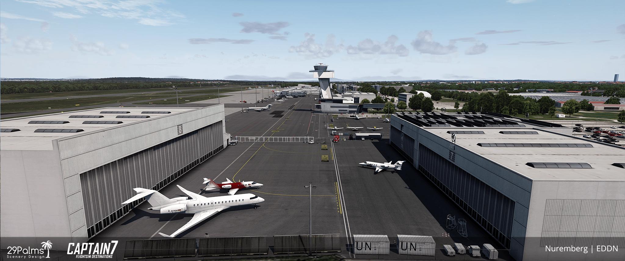 EDDN Albrecht Dürer Airport Nuremberg Scenery Addon for P3D   Captain7