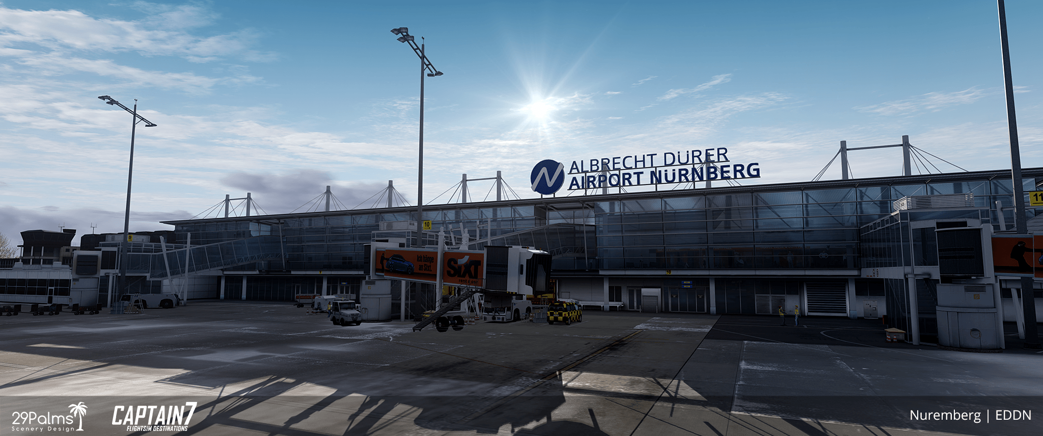 EDDN Albrecht Dürer Airport Nuremberg Scenery Addon for P3D